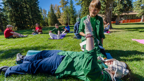 Camp Impeesa Outdoor first aid practice