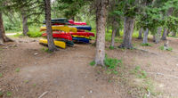 Camp Impeesa Canoes at Loon Tent Site