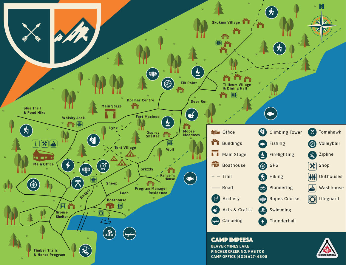 Camp Impeesa Activity Map